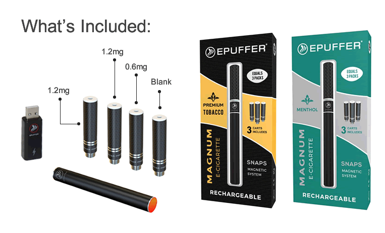 ePuffer Magnum Snaps Value Ecigarette pack